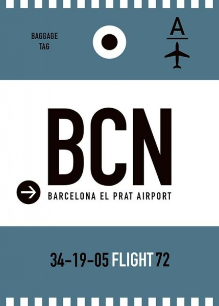 BCN Barcelona Poster in the group Prints / Maps & cities at Desenio AB (10002)
