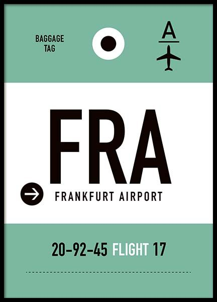 FRA Frankfurt Poster in the group Prints / Maps & cities at Desenio AB (10005)