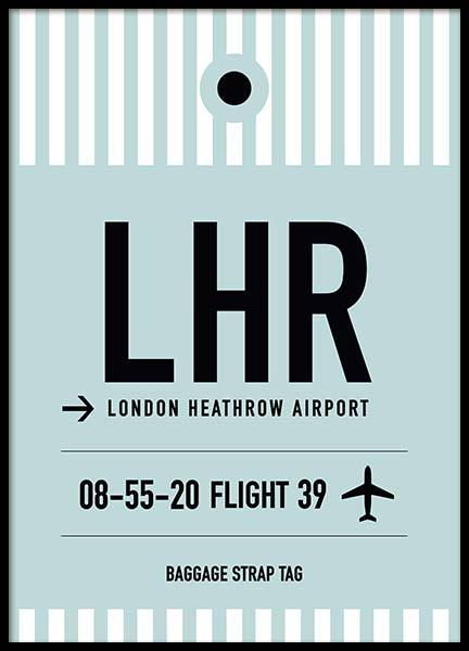 LHR London Poster in the group Prints / Maps & cities at Desenio AB (10008)