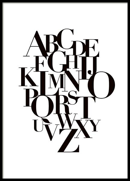 Alphabet Poster in the group Prints / Typography & quotes at Desenio AB (10015)