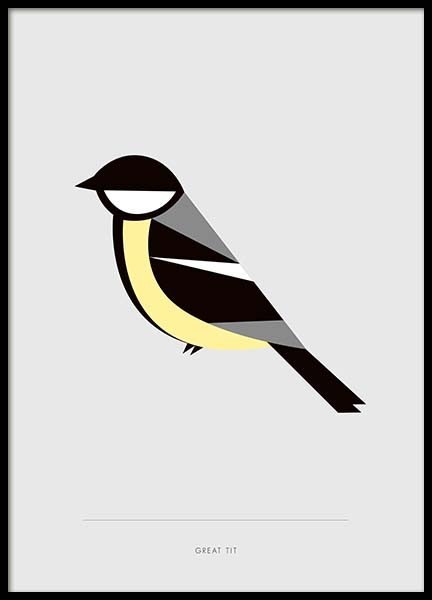 Great Tit Poster in the group Prints / Animals at Desenio AB (10019)