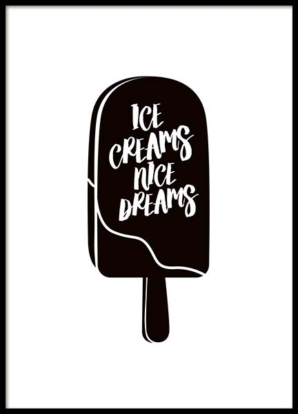 Ice Creams Nice Dreams Poster in the group Prints / Kitchen at Desenio AB (10027)