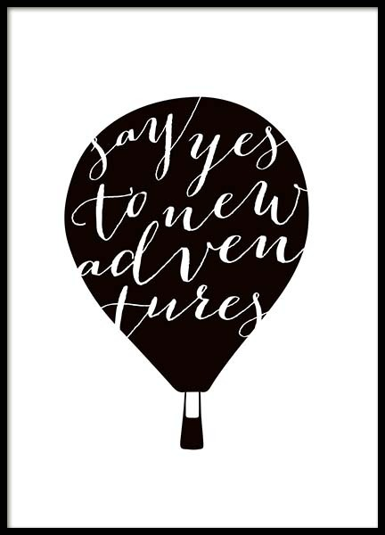 Yes to new adventures Poster in the group Prints / Sizes /  at Desenio AB (10032)