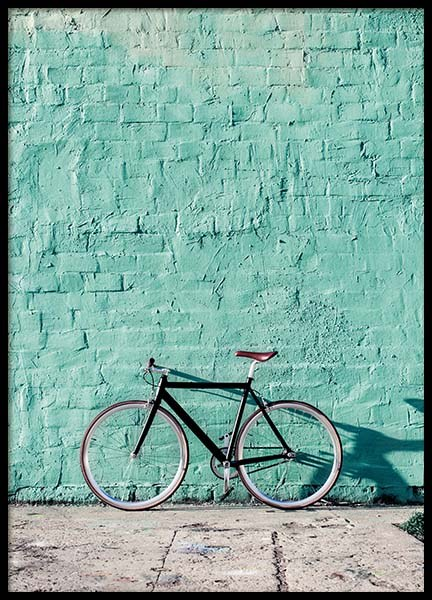 Mint Bike Poster in the group Prints / Sizes / 50x70cm | 20x28 at Desenio AB (10043)