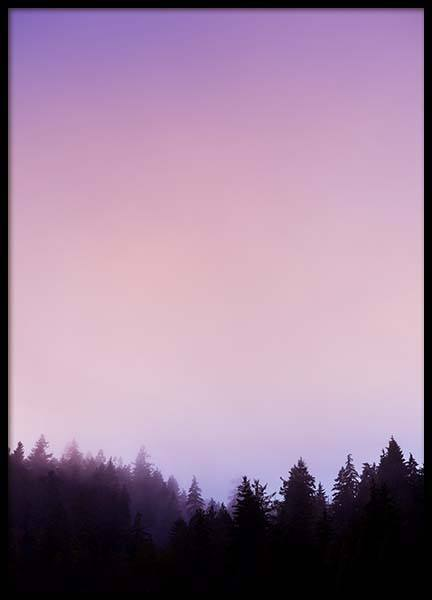 Purple Sky Poster in the group Prints / Nature at Desenio AB (10045)