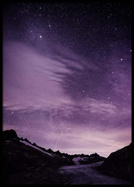 Purple Night Sky Poster in the group Prints / Nature at Desenio AB (10046)