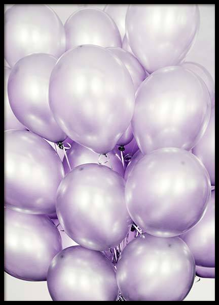 Purple Balloons Poster in the group Prints / Photographs at Desenio AB (10048)