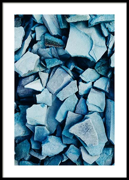 Indigo Stones Poster in the group Prints / Photographs at Desenio AB (10057)