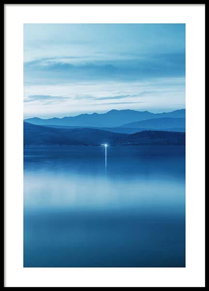 Indigo Horizon Poster in the group Prints / Sizes / 50x70cm | 20x28 at Desenio AB (10060)