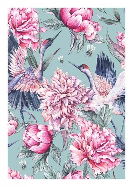 Bird Pattern No2 Poster in the group Prints / Floral at Desenio AB (10077)
