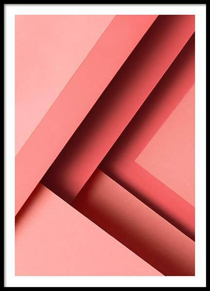 Pink Paper No1 Poster in the group Prints / Graphical at Desenio AB (10104)