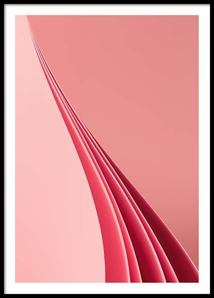Pink Paper No3 Poster in the group Prints / Graphical at Desenio AB (10106)