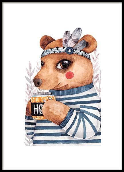 Little Bear Poster in the group Prints / Kids posters / Animal illustrations at Desenio AB (10114)