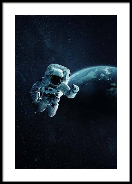 Astronaut In Space Poster in the group Prints / Kids at Desenio AB (10118)