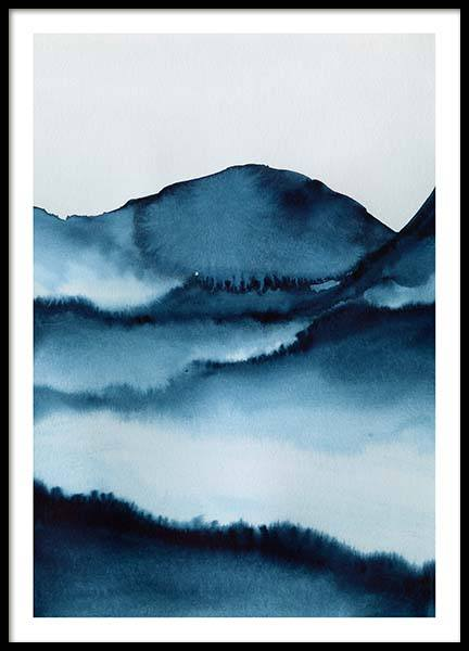 Watercolor Mountains Poster in the group Prints / Art prints at Desenio AB (10124)