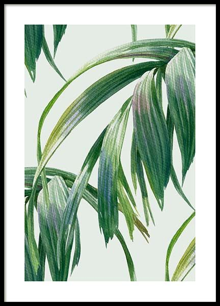 Watercolor Leaves Poster in the group Prints / Floral / Green plants at Desenio AB (10126)