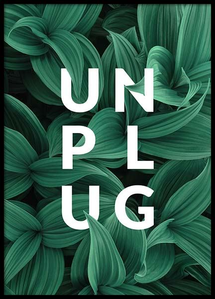 Unplug Poster in the group Prints / Text posters at Desenio AB (10138)