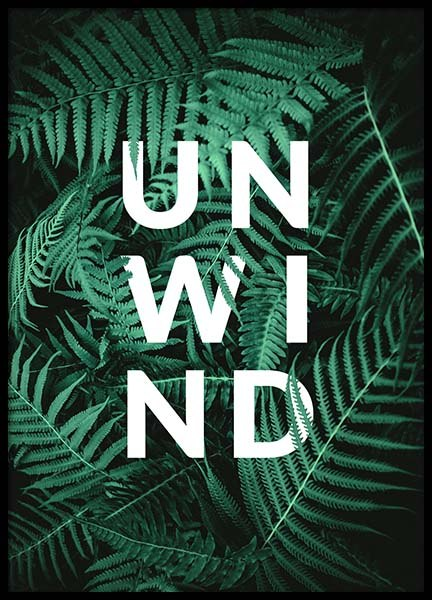 Unwind Poster in the group Prints / Text posters at Desenio AB (10139)