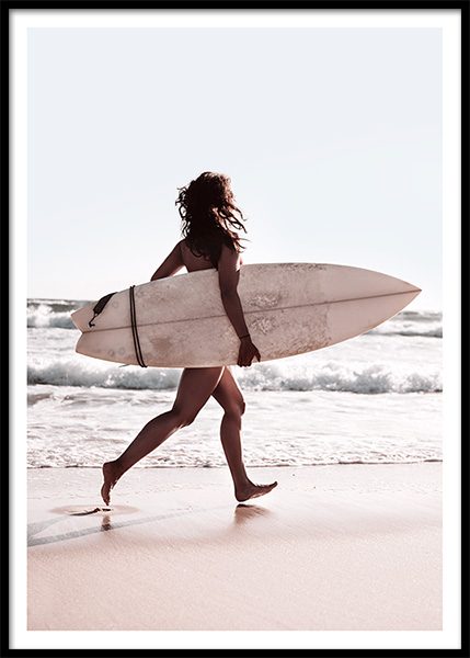 Surf The Waves Poster in the group Prints / Photographs at Desenio AB (10172)