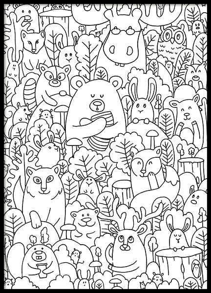 Forest Friends Poster in the group Prints / Illustrations at Desenio AB (10204)