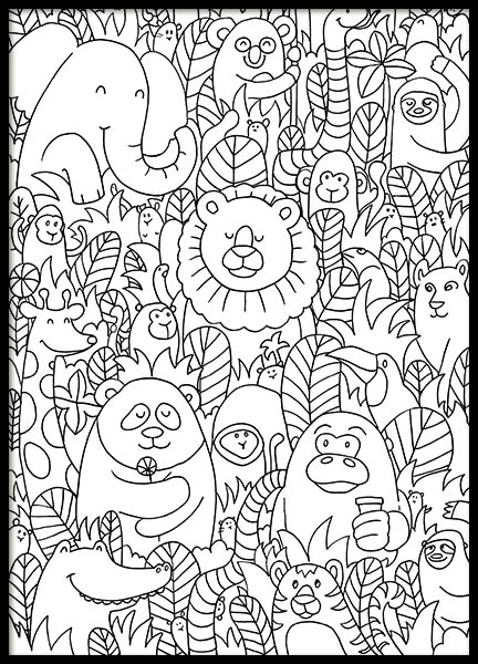 Jungle friends Poster in the group Prints / Sizes / 50x70cm | 20x28 at Desenio AB (10205)