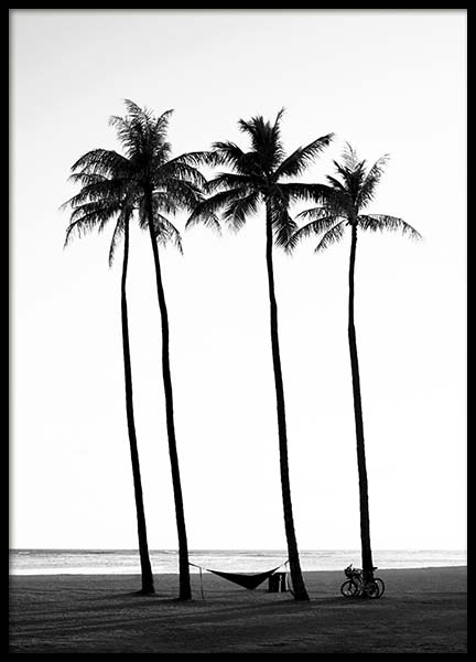 Palm Trees On Beach Poster in the group Prints / Nature at Desenio AB (10233)
