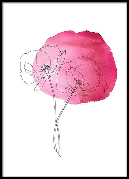 Pink Poppy Flower No2 Poster in the group Prints / Sizes / 50x70cm | 20x28 at Desenio AB (10254)