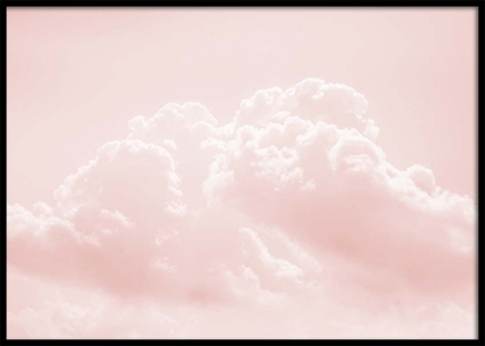 Pink Cloudy Sky Poster in the group Prints / Nature at Desenio AB (10262)