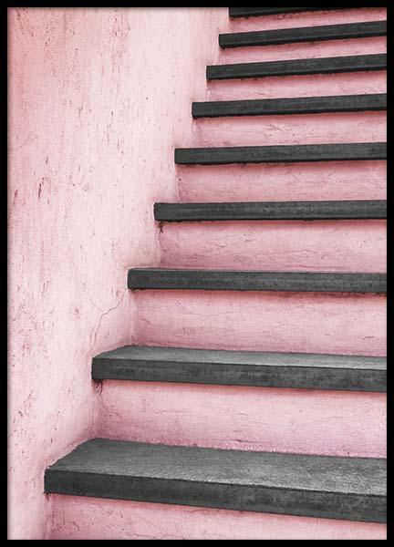 Pink Staircase Poster in the group Prints / Photographs at Desenio AB (10266)