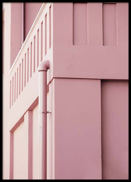Pink Pastel Facade Poster in the group Prints / Sizes / 50x70cm | 20x28 at Desenio AB (10267)