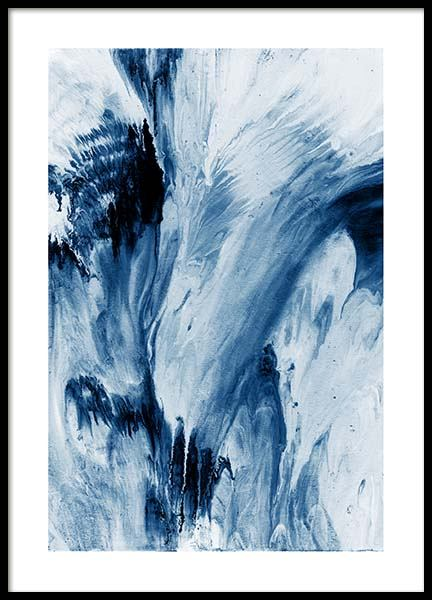 Abstract Blue Poster in the group Prints / Art prints at Desenio AB (10273)