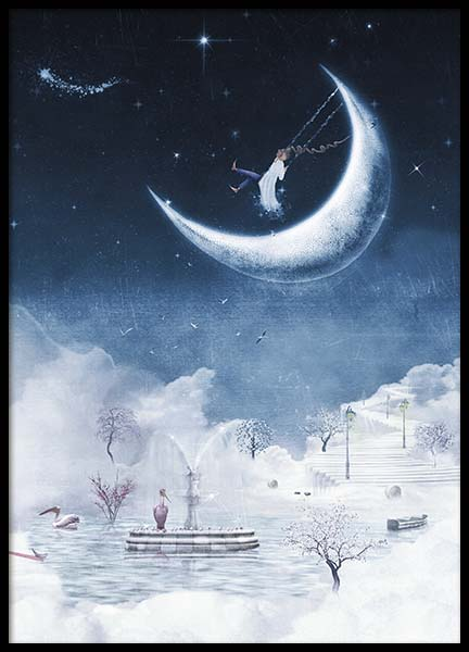 Foggy Winter Night Poster in the group Prints / Kids at Desenio AB (10277)