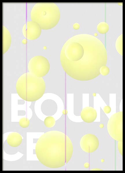 Bounce Poster in the group Prints / Graphical at Desenio AB (10281)