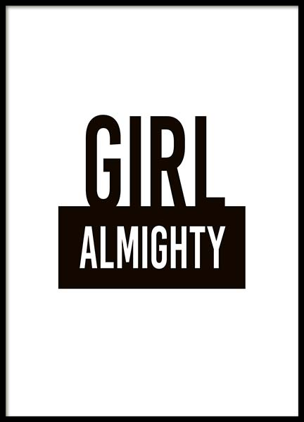 Girl Almighty Poster in the group Prints / Sizes /  at Desenio AB (10290)