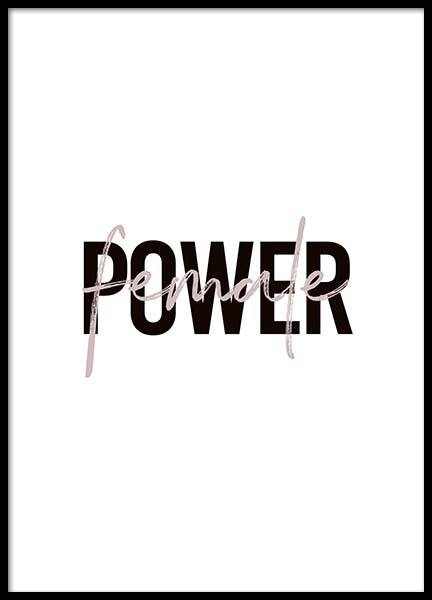 Female Power Poster in the group Prints / Typography & quotes at Desenio AB (10292)