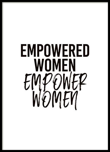 Empowered Women Poster in the group Prints / Typography & quotes at Desenio AB (10294)