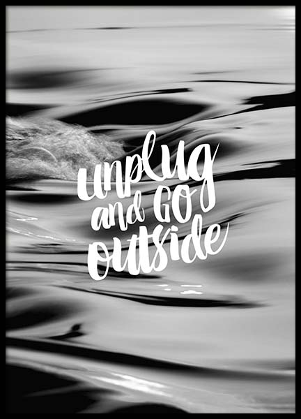 Unplug And Go Outside Poster in the group Prints / Sizes /  at Desenio AB (10299)