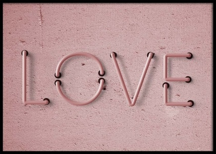 Love Neon No1 Poster in the group Prints / Sizes / 50x70cm | 20x28 at Desenio AB (10304)