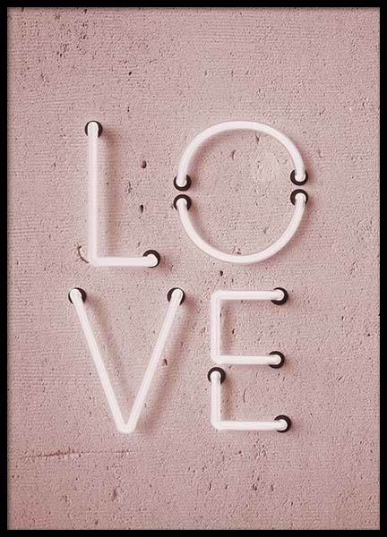 Love Neon No2 Poster in the group Prints / Text posters at Desenio AB (10305)