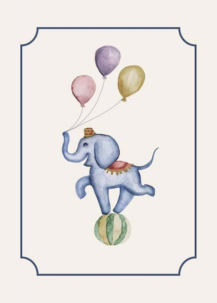 Circus Elephant Poster in the group Prints / Sizes /  at Desenio AB (10325)