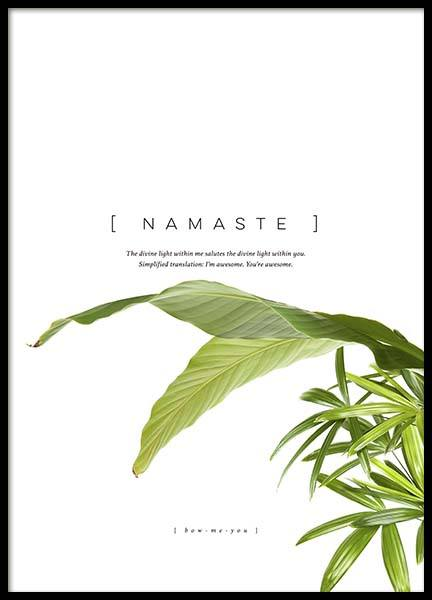 Namaste Poster in the group Prints / Typography & quotes at Desenio AB (10362)