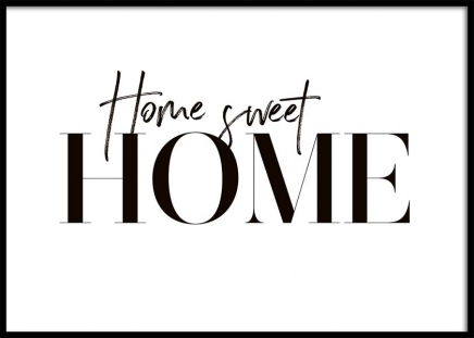 Sweet Home Poster in the group Prints / Typography & quotes at Desenio AB (10369)