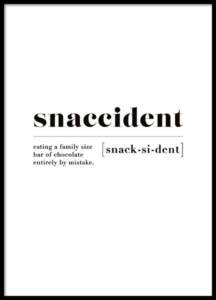 Snaccident Poster in the group Prints / Sizes /  at Desenio AB (10373)
