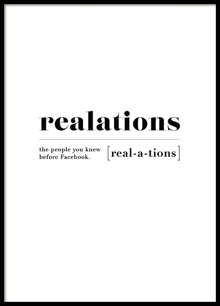 Realations Poster in the group Prints / Typography & quotes at Desenio AB (10375)