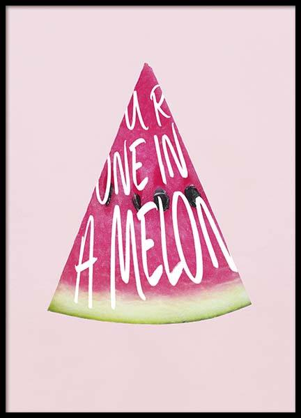 One In A Melon Poster in the group Prints / Kitchen at Desenio AB (10381)