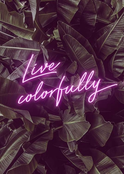 Live Colorfully Neon Poster in the group Prints / Typography & quotes at Desenio AB (10385)