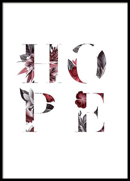 Floral Hope Poster in the group Prints / Typography & quotes at Desenio AB (10386)