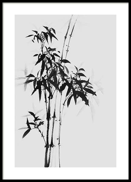 Bamboo Ink No1 Poster in the group Prints / Floral at Desenio AB (10436)