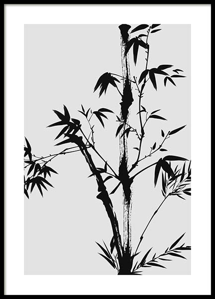 Bamboo Ink No2 Poster in the group Prints / Floral at Desenio AB (10437)