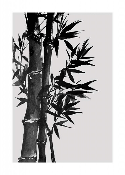Bamboo Ink No3 Poster in the group Prints / Floral at Desenio AB (10438)